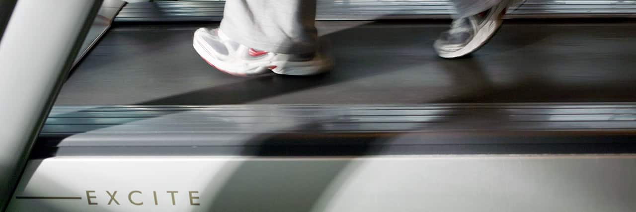 Closeup of Treadmill