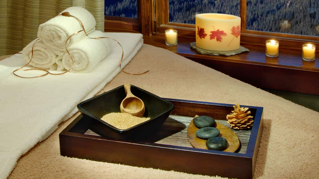 Spa Bed with Products